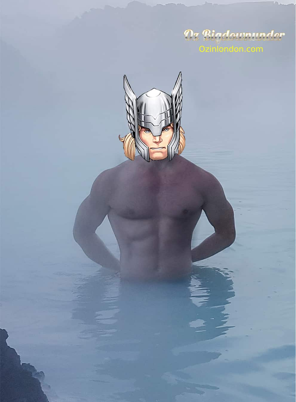 thor at blue lagoon spa iceland