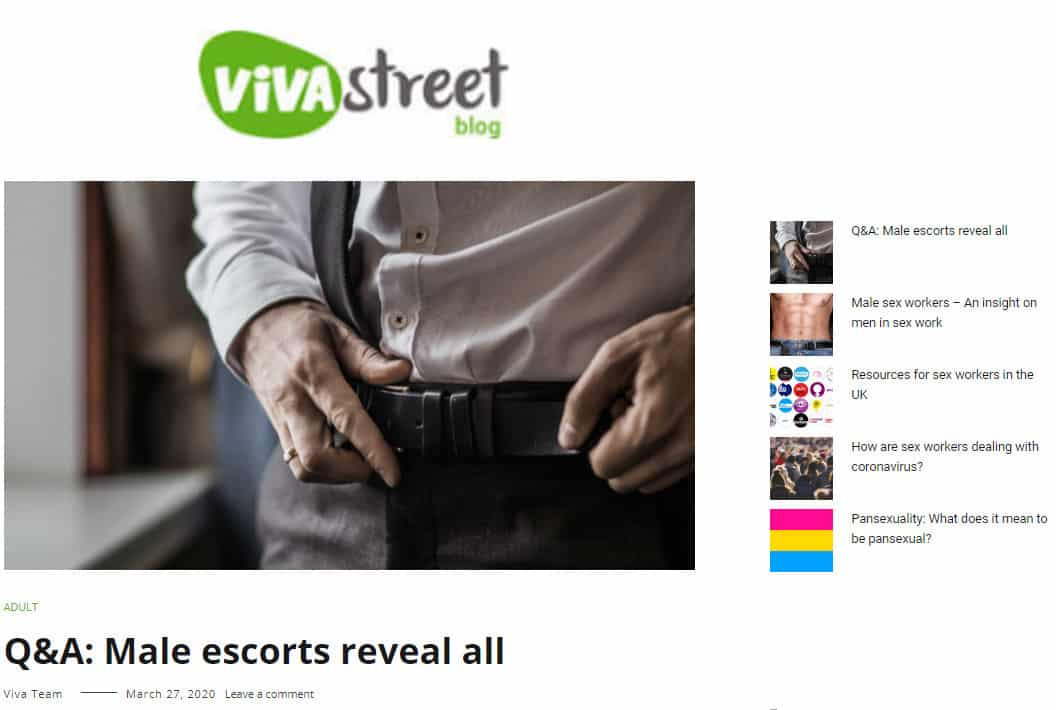 vivastreet male escort interview