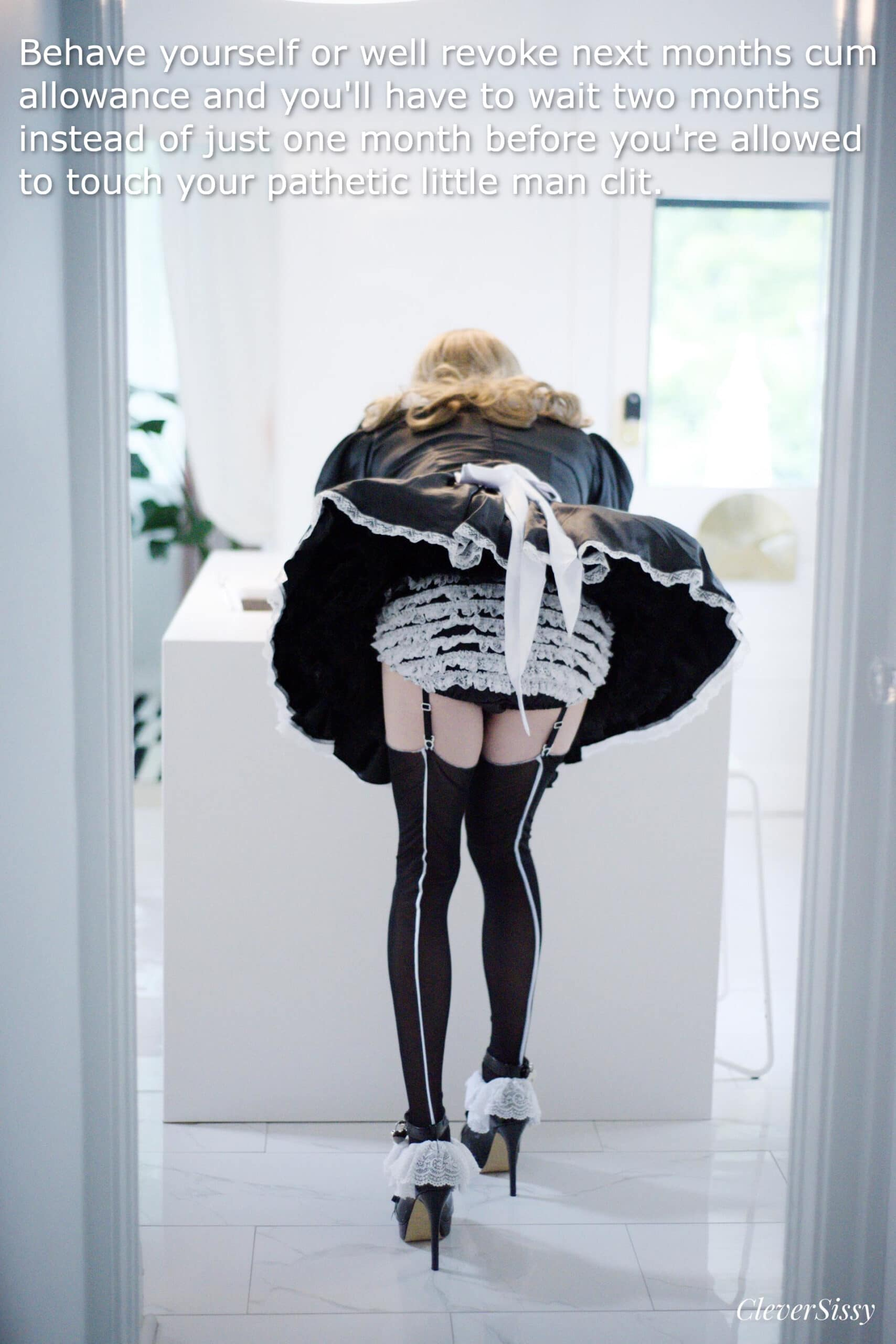french maid orgasm denial